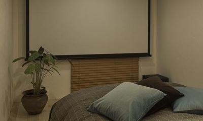 シアター付きベッドルーム|wanも楽しいリフォーム2