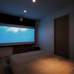 シアター付きベッドルーム