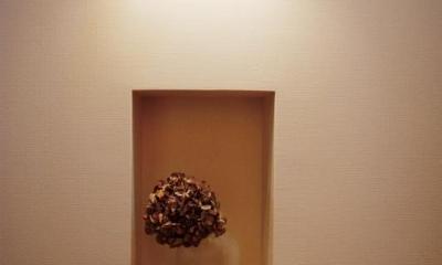 wanも楽しいリフォーム2 (玄関の飾り棚)