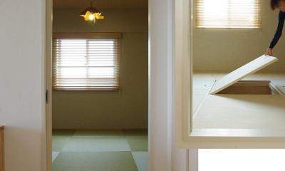 素足がきもちいい家 (床下収納付き小上がりスペース)