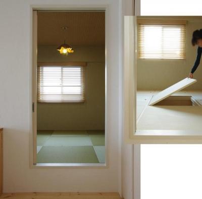 床下収納付き小上がりスペース (素足がきもちいい家)