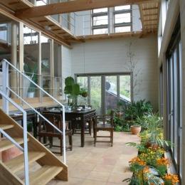 室内温室が楽しい!!土間テラスのある家 (インナーテラス)