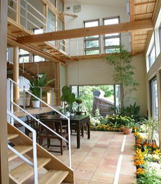 建築家:ガーデナー建築家/勝田無一「室内温室が楽しい!!土間テラスのある家」