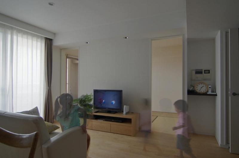 船橋 N HOUSEの部屋 オリジナルTVボードのあるリビング