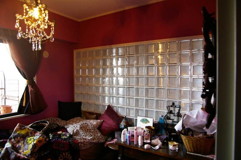 マンションリフォーム 千葉(千葉 習志野)の部屋 ガラスブロックのあるおしゃれな寝室