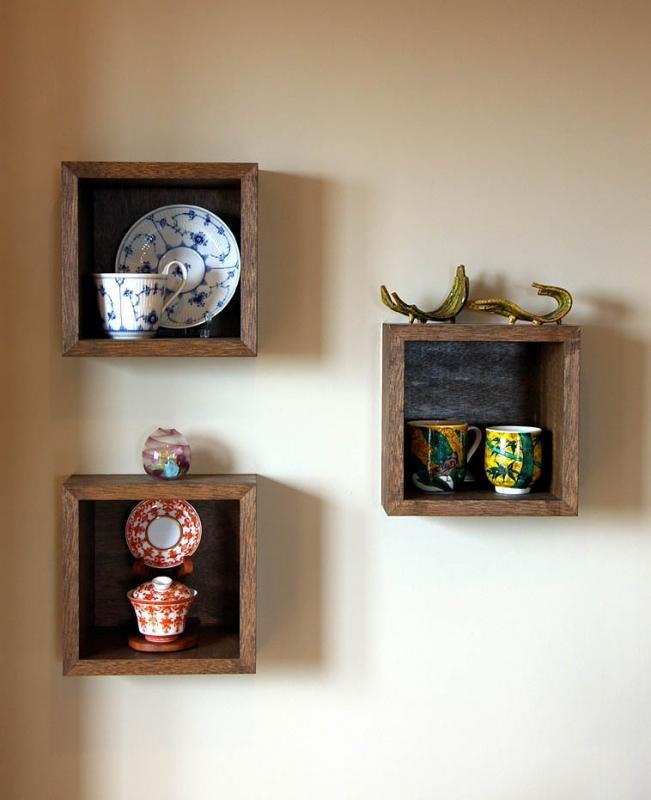 マンションリフォーム 千葉(千葉 習志野)の部屋 壁に埋め込まれた飾り棚