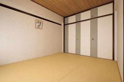 マンションリフォーム 千葉 (船橋 H HOUSE) (琉球畳と月桃紙の襖)