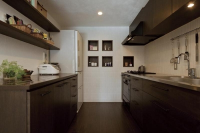 マンションリフォーム 千葉 (船橋 H HOUSE) (フルスライドで使いやすいオリジナルキッチン)