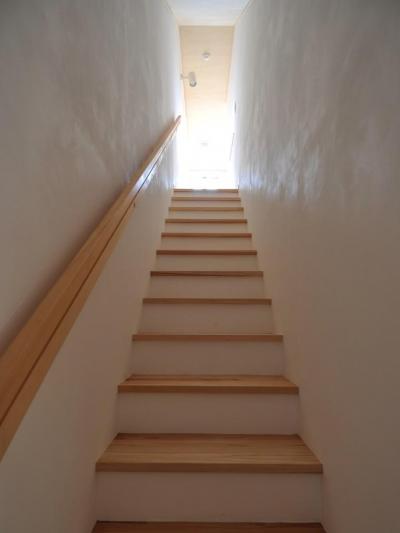 家事室を持つ家 (階段室)