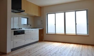 リビング・キッチン|家事室を持つ家