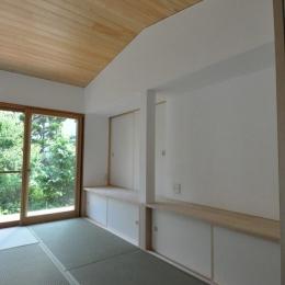 船底天井の家(リフォーム)の写真 リビングカウンター