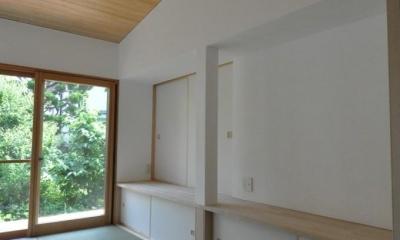 船底天井の家(リフォーム) (リビングカウンター)