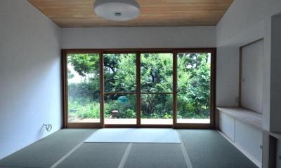 リビング|船底天井の家(リフォーム)