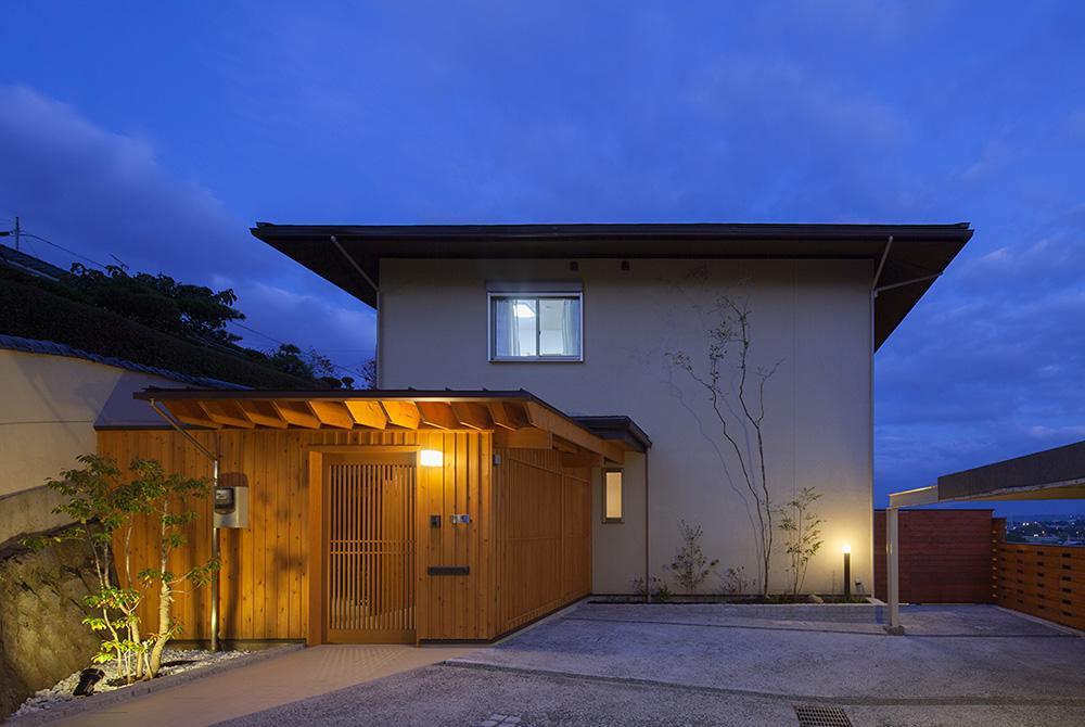 龍田町の家の写真 木のぬくもりを感じる外観