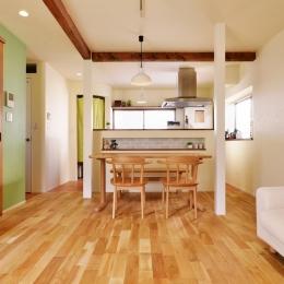 a邸・リビングをベストポジションにして、すがすがしく、片付けやすく・・・。 (2階LDK(ダイニングキッチン))