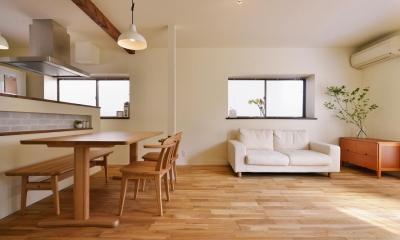 a邸・リビングをベストポジションにして、すがすがしく、片付けやすく・・・。 (2階LDK(リビングダイニング))