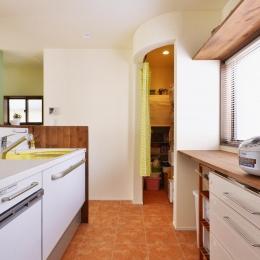 キッチン横のパントリー