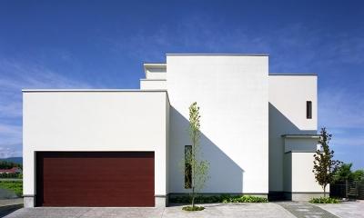 小川町の家 (プライバシーを確保しながらも開放的な外観)
