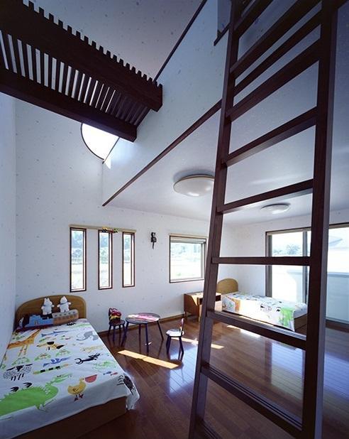 小川町の家の部屋 ロフト付きの子供部屋