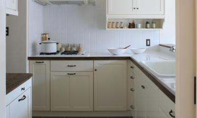 ホワイトが美しいキッチン|O邸