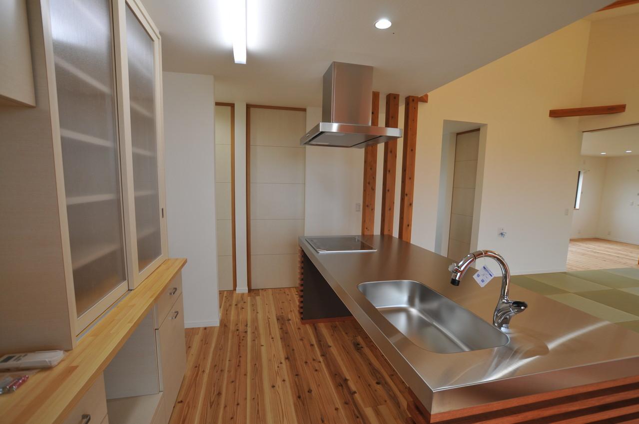 北諸県郡三股町N邸の部屋 ステンレス製キッチン