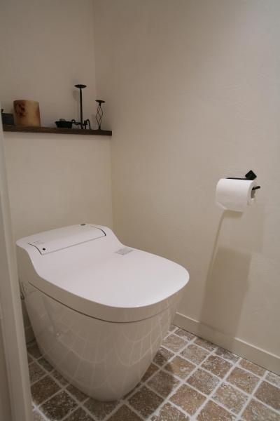白く清潔なトイレ空間 (O邸)