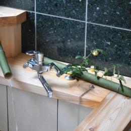 竹製の湯口