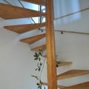 霧島市牧園町 H邸の写真 木製螺旋階段