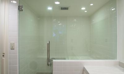 O邸 (ガラス貼りの開放的なバスルーム)