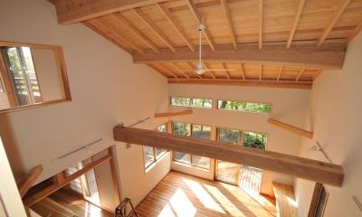霧島市牧園町 H邸 (2階から1階を見下ろす)
