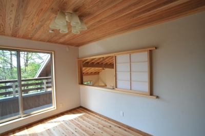 室内窓のある部屋 (霧島市牧園町 H邸)