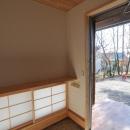 霧島市牧園町 H邸の写真 地窓と玄関