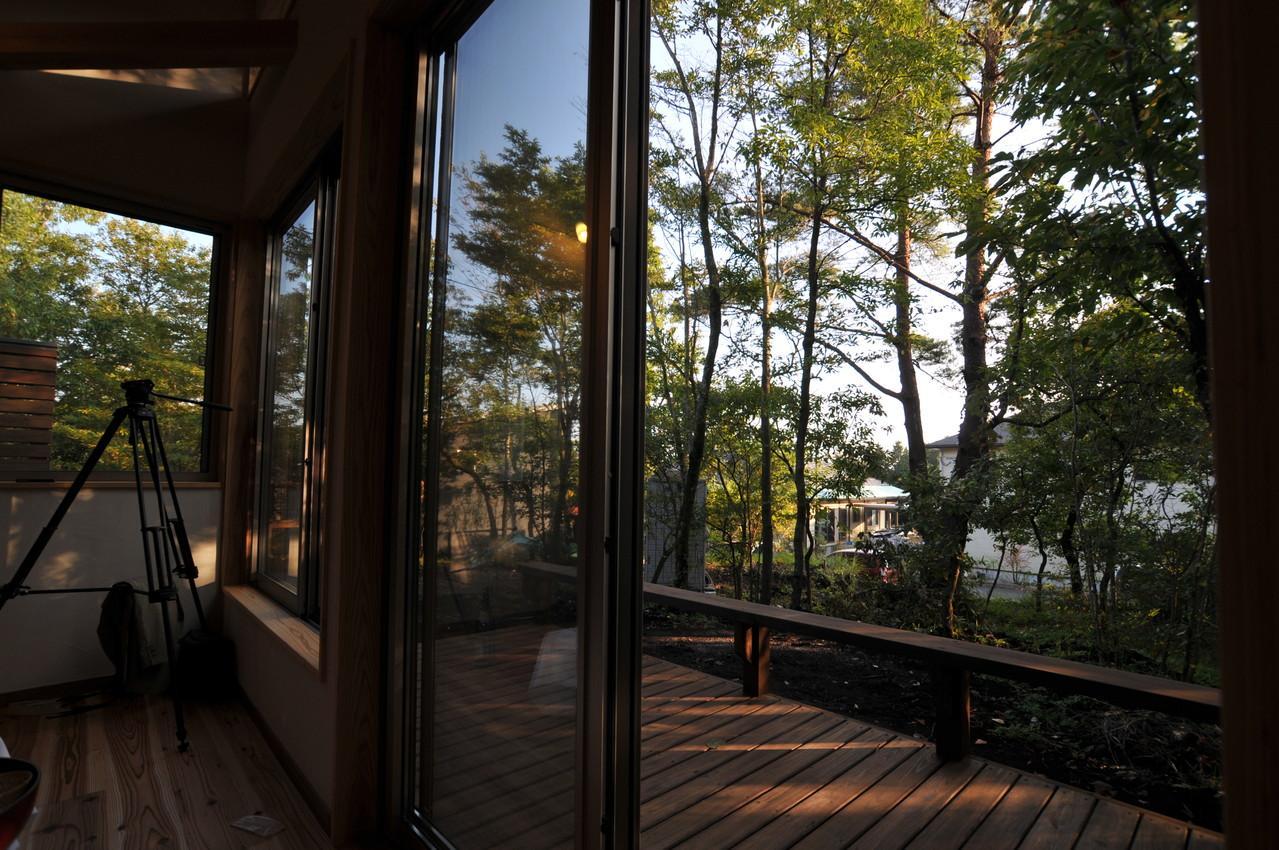 霧島市牧園町 H邸の部屋 ウッドテラスからの眺め