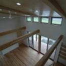 宮崎市K邸の写真 2階からリビングを見下ろす