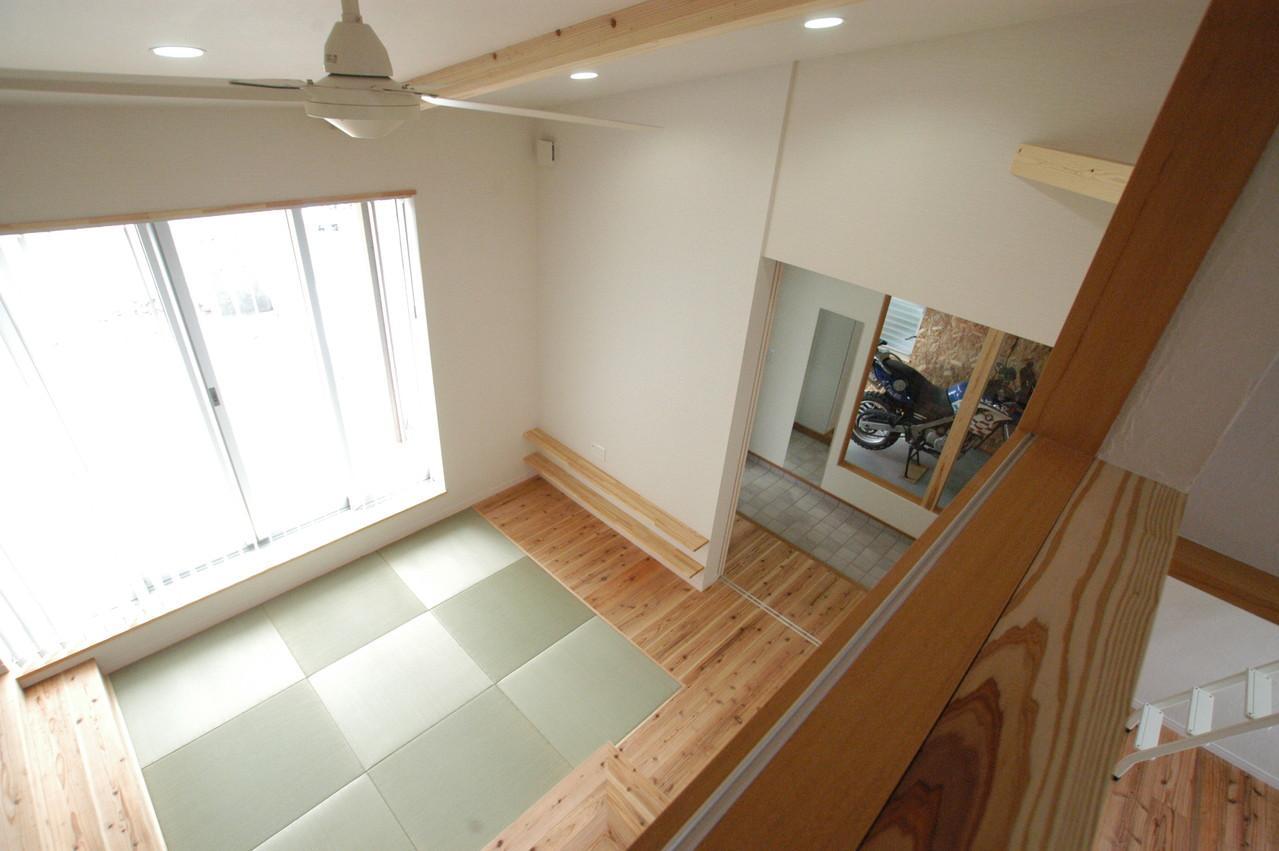 北諸県郡三股町 F邸の部屋 吹き抜けから畳コーナーを見下ろす