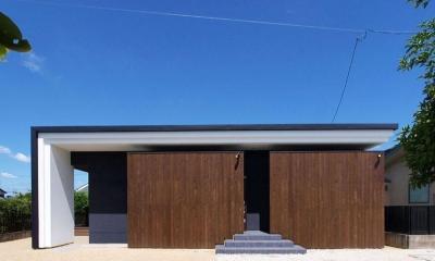 HOUSE SD 『木板塀の家』 (外観01)