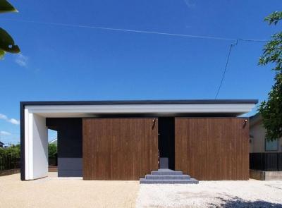 外観01 (HOUSE SD 『木板塀の家』)
