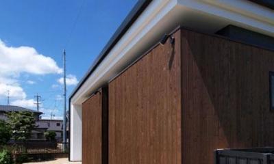 HOUSE SD 『木板塀の家』 (外観03)