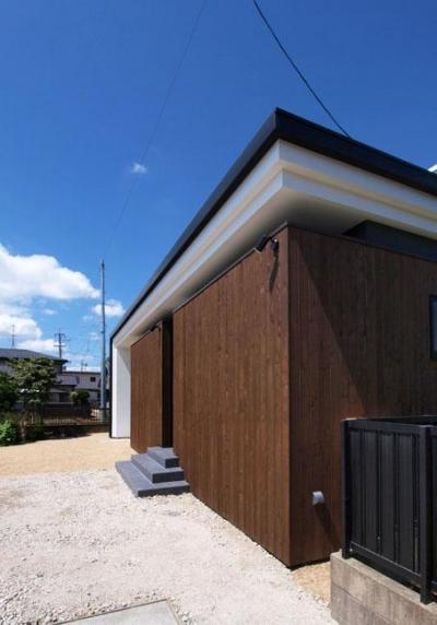 外観03 (HOUSE SD 『木板塀の家』)