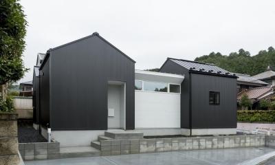 中庭のあるロの字の回遊性のある家(三雲の家) (外観)