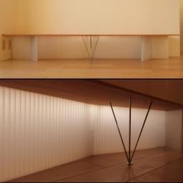 Smallhouse01 「狭小スペースと大収納」 (内照式TVテーブル)