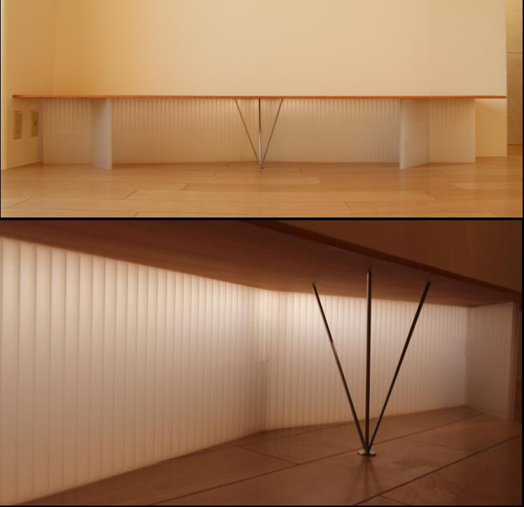 Smallhouse01 「狭小スペースと大収納」の部屋 内照式TVテーブル