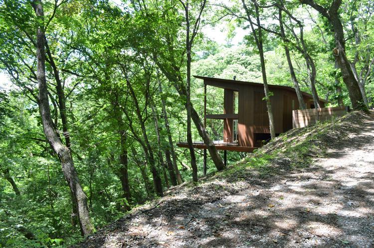 大きな栗の木の下の家 (美しい大自然に囲まれた外観)