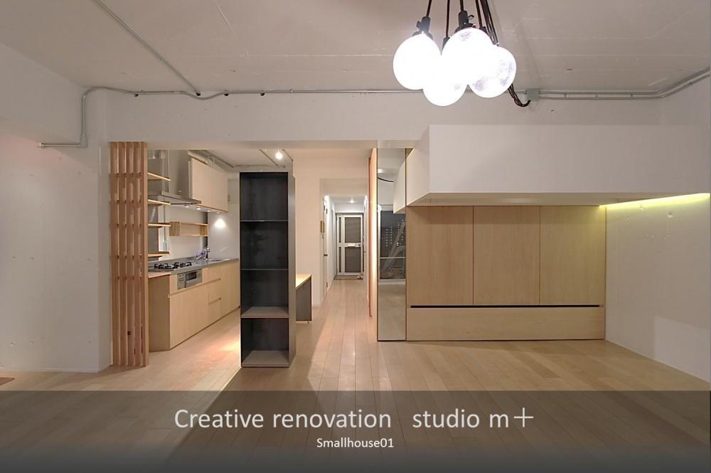 Smallhouse01 「狭小スペースと大収納」 (リビング)