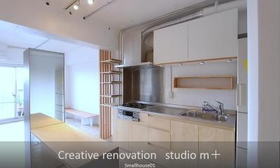 Smallhouse01 「狭小スペースと大収納」 (オリジナルキッチン)