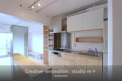 オリジナルキッチン (Smallhouse01 「狭小スペースと大収納」)