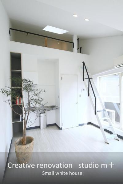 小さな白い家 「太陽がキッチンに降り注ぐ家」 (ロフト付きLDK)