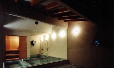 自然を感じる露天風呂|葉山の海荘