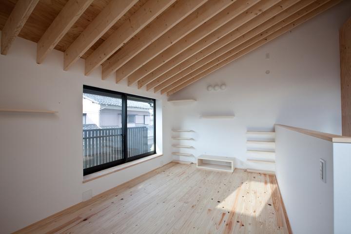 港北の家の部屋 風通りの良い空間