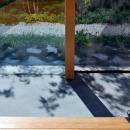 ガラス張りの土間